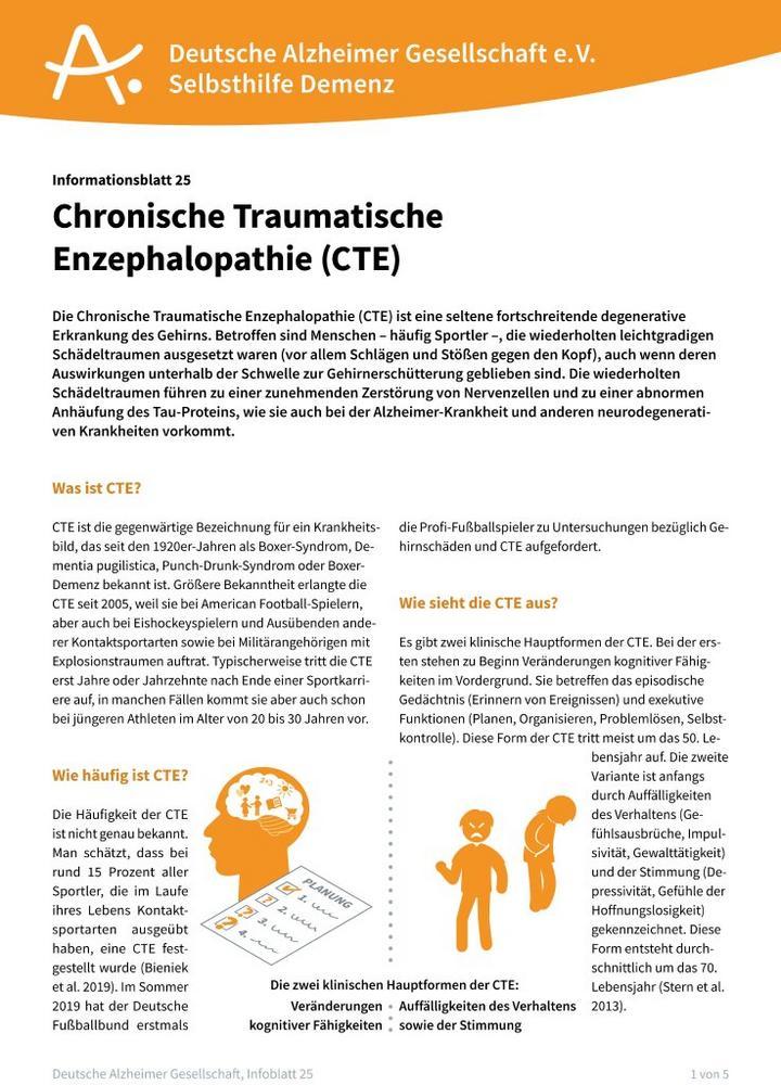 Chronische Traumatische Enzephalopathie